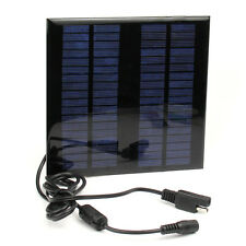 18V 2W Portable Solar Panel Battery Charger Power Bank for Laptop Car Motorcycle