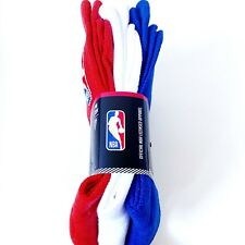 NWT New NBA Basketball Crew Socks Red White Blue Mens Sizes 6-12