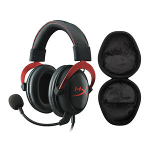 HyperX Cloud II Gaming Headset, Red with Hard Shell Headphone Case