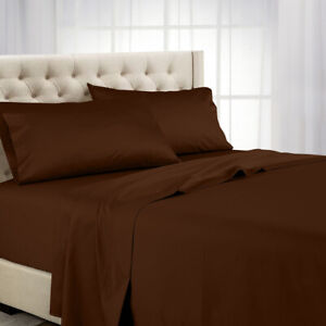 600 Thread Count Solid Sheet Set Combed Cotton Bed Sheet Set- Deep Pocket