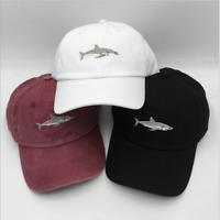 Unisex Mens Womens Boy Shark Baseball Cap Adjustable Summer Fish Strapback Hats