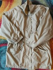 Aeros Mens Jacket Sz Large Tan Rain Gear in great condition snaps zip drawstring
