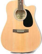 Natural Acoustic Electric Guitar with Case and Picks Thinline Cutaway by Jameson