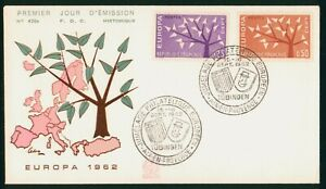 Mayfairstamps France 1962 Europa Trees Tubingen First Day Cover wwp12507
