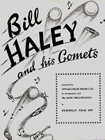 BILL HALEY & HIS COMETS ORIGINAL 1957 EUROPEAN TOUR CONCERT PROGRAM BOOK VG 2 EX