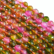 Natural 8mm Faceted Multicolor Tourmaline Round Gems Loose Beads 15''aaa