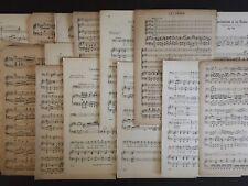5 Lbs Classical Sheet Music Scrapbooking Junk Journal Decoupage Crafts Ephemera