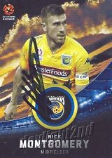 ✺Signed✺ 2016 2017 CENTRAL COAST MARINERS A-League Card NICK MONTGOMERY