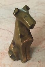 Art Deco Bronze Cubist Terrier Airedale Dog Figurine Sculpture 1920 Statue