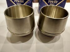 Royal Selangor Hand Finished Pewter Shot Glasses in Boxes Lot of 2