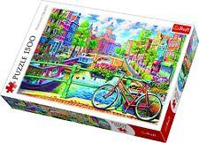 Trefl 1500 Pièce Adulte Grand Amsterdam Canal Fleurs Vélo Puzzle de Sol