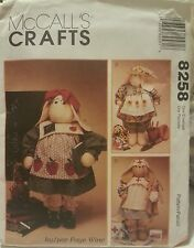 "8258 McCall's Crafts Sewing Patterns to Make Approx. 27"" Professional Bunnies"