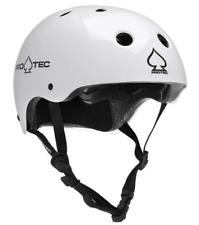 Pro-Tec Helmet Classic Matt White Skate Protec Lid Bike Scooter Medium Kids Teen