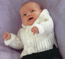 PREMATURE BABY DOLL HOODED JACKET KNITTING PATTERN 14 TO 22 INCH (1342)