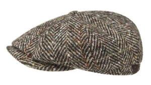Stetson Large 59cm Earflaps Virgin Wool Newsboy 8/4 Cap Gatsby Multicolored Hat