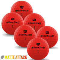 Wilson Staff DX2 OPTIX 2018 Low Compression Soft Matte RED 6x Golf Balls NEW*
