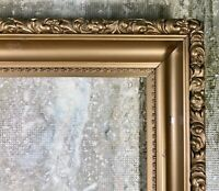 Antique Vintage Ornate Gold Gilt Leaf Picture Frame Wood Regency 14X19 Large