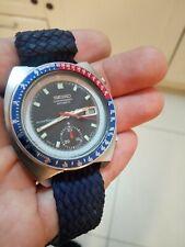 1976 Seiko Pougue  Chronograph Pepsi dial 6139 6002   SERVICED