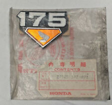 HONDA CB175 / CL175 NOS - AIR CLEANER COVER EMBLEM  87125-342-671