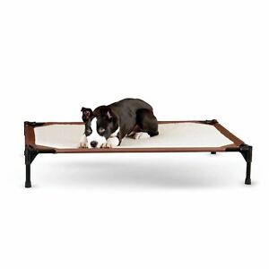 """K&H Pet Products Self-Warming Pet Cot Large Brown 30"""" x 42"""" x 7"""""""
