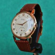 BELISON Large Gold Plated Vintage Watch AS 1130 Reloj Montre Orologio Swiss