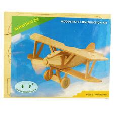 3D Wood Construction Puzzle Small - Albatros DV Plane