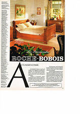 PUBLICITE ADVERTISING  1981   ROCHE & BOBOIS   lit en merisier massif