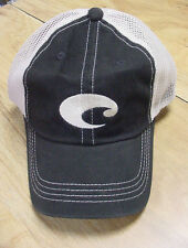 BRAND NEW COSTA DEL MAR MESH ADJUSTABLE CAP HAT  BLACK STONE