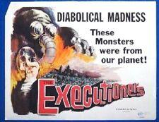 EXECUTIONERS - 1960 - original 22x28 horror movie poster - Great Artwork!