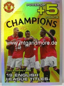 Adrenalyn XL Manchester United 11/12 - #123 19 English League Titles - Power Up