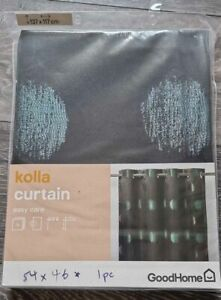 1x KOLLA DARK GREEN BLACK OUT CURTAINS SIZE 117x137 cm - 46x54 in (WxH)