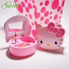 Hello kT Music Box jewelry Box Mirror Cosmetic Kids Girl Dancing Ballerina Pink