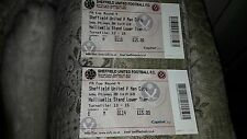 SHEFFIELD UTD V MAN CITY FA CUP ROUND 4 TICKET STUBS  27/ 1/ 08
