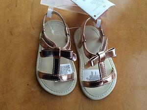NWT Gymboree Tiny Paradise Gold Crib Sandals Shoes Baby Girl Infant 1,2,3,4