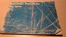 VW Volkswagen Jetta Instruction Manual 1981