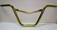 Old School Nos Vintage Bmx Bike MX V-Handlebars, Anodized Gold