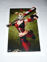 HARLEY QUINN ART PRINT #2 SIGNED BY ARTIST - MIKE MILLER  11x17
