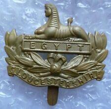 VINTAGE Gloucestershire Regiment Cap Badge Slider BRASS Genuine*