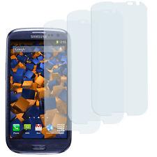 mumbi 3x Folie für Samsung Galaxy S3 Schutzfolie klar Displayschutz Displayfolie
