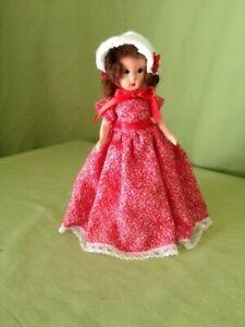 """Nancy Ann (Kerr & Heinz) vintage 7.5"""" Bisque doll 1940's redressed"""