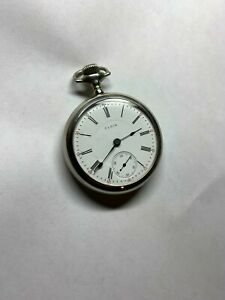 100 year old  LARGE 18 size ELGIN pocket watch EXTRA CLEAN CASE