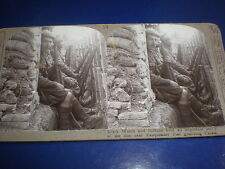 Old Stereoview photograph WW1 Black Watch & India army guard Calais c1914 - 16
