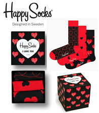 HAPPY SOCKS I LOVE YOU GIFT BOX 3 PAIR XLOV08-4300 SOX UNISEX COMBED COTTON