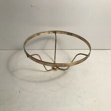 Antique brass plated 7 inch electric lamp shade holder