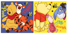 2 x Official Disney Winnie the Pooh Face Towel / Cloth - Tigger