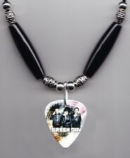 Green Day Band Photo Guitar Pick Necklace #2