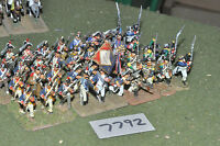 25mm napoleonic / french - revolutionary war infantry 40 figs metal - inf (7792)