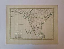 Gravure, Carte des Indes, XVIIIème siècle