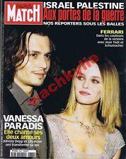 Paris Match n°2682 - 19/10/2000 Johnny Depp Vanessa Paradis Israël Björk Ferrari