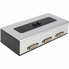 DVI-D 2:1 DVI 2 Port Manual Switcher Selector Switch Box WQHD 1920 x 1080